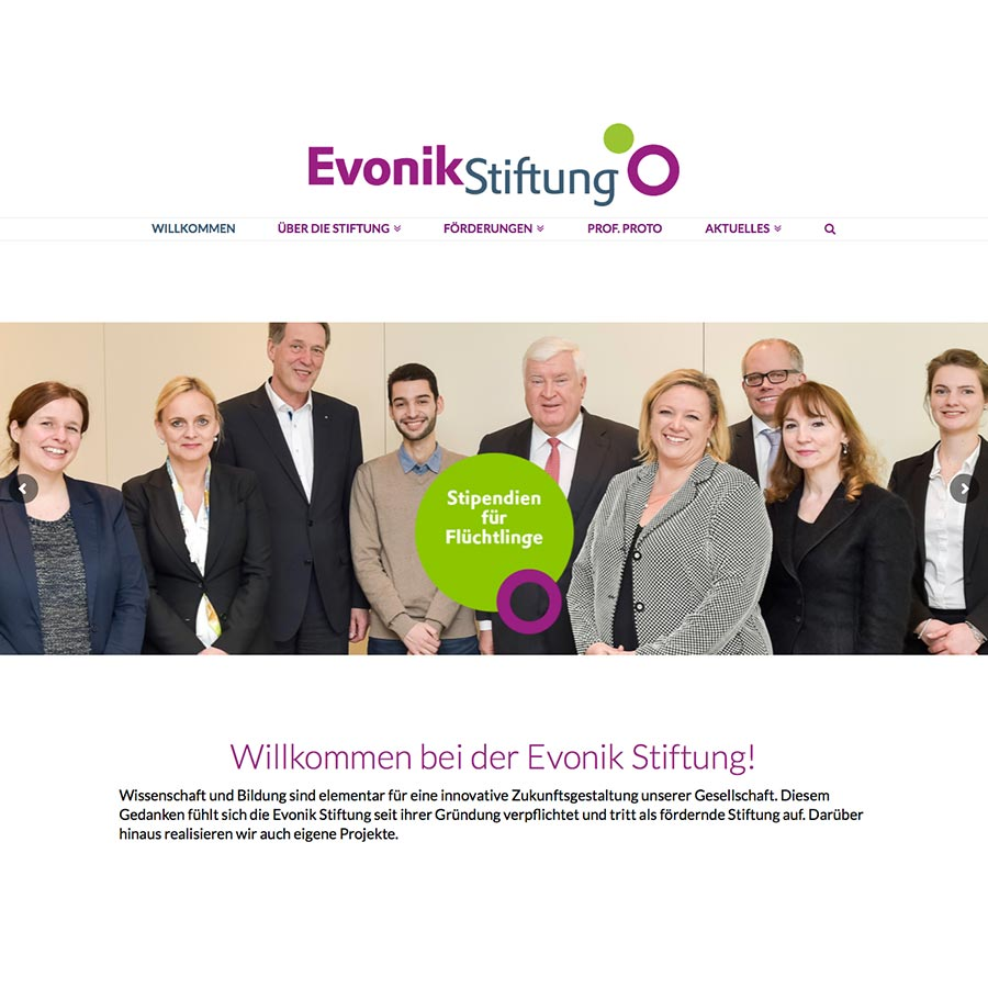 Websites: Evonik Stiftung