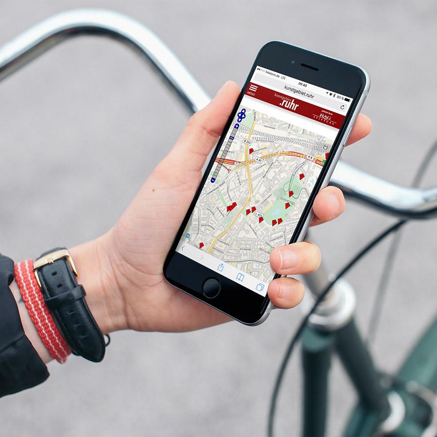 Mobile Solutions: Kunstgebiet.Ruhr - Umkreissuche